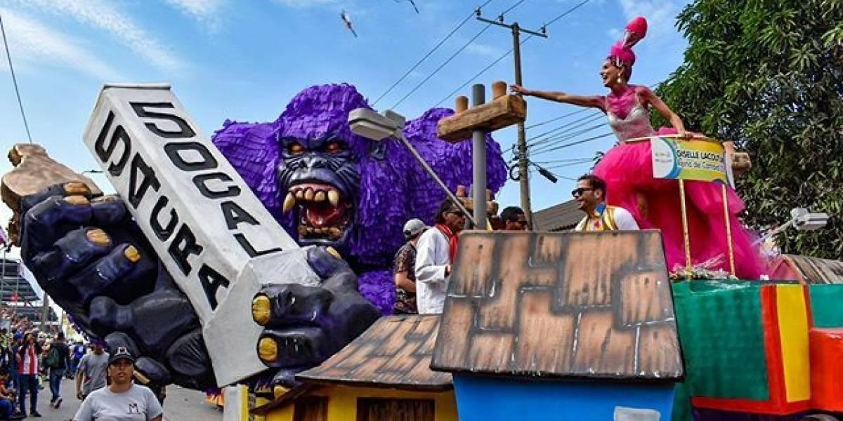 'Suéltame gorila' la carroza ganadora en el Carnaval de Barranquilla