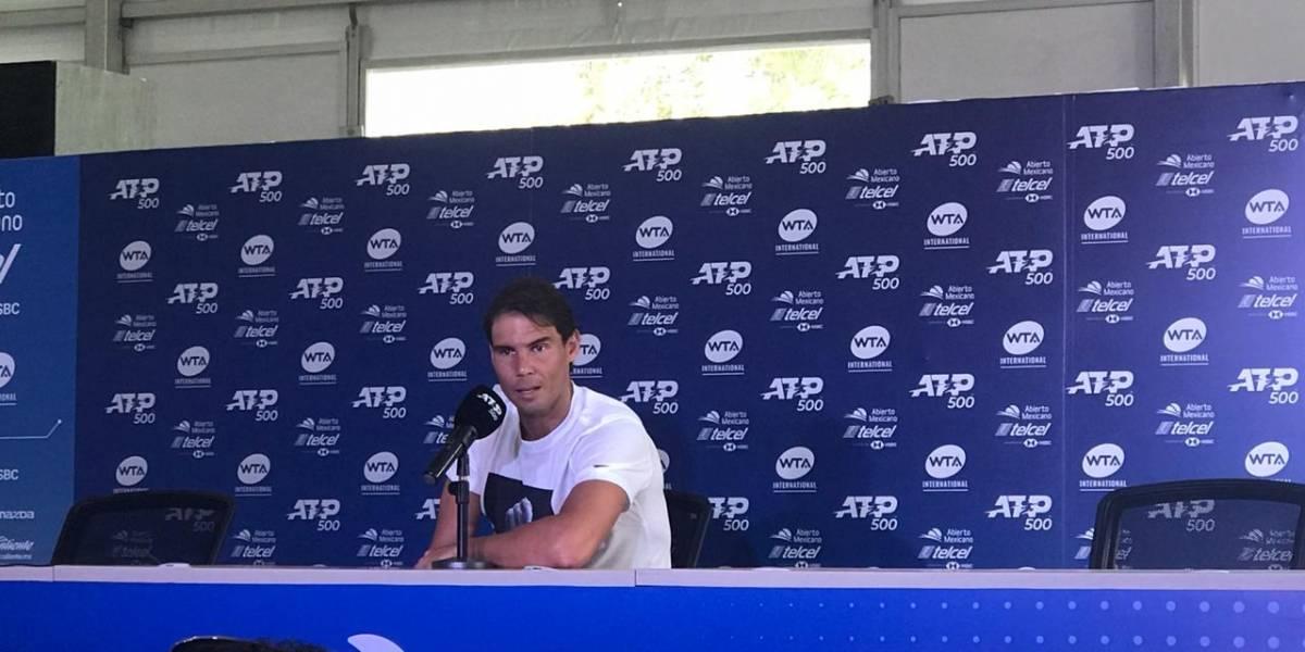 Rafael Nadal reconoce que no le gusta ver triunfar a Djokovic