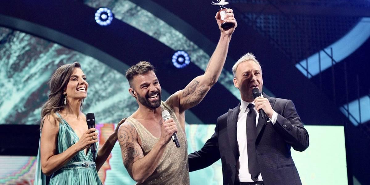 Los memes del beso entre Ricky Martin y el presentador de Viña del Mar 2020