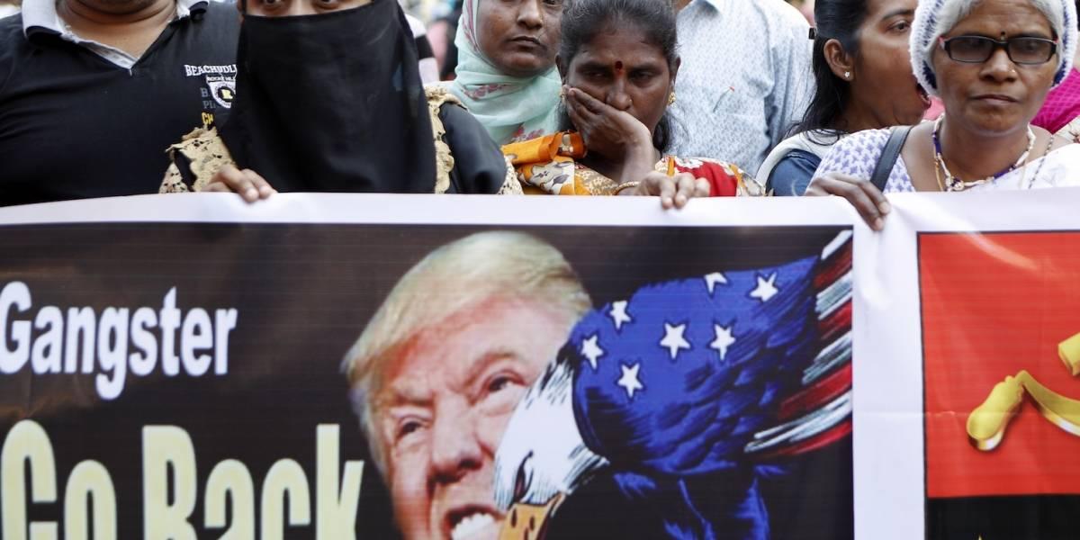 Protestas por visita de Trump a la India dejan al menos 10 muertos