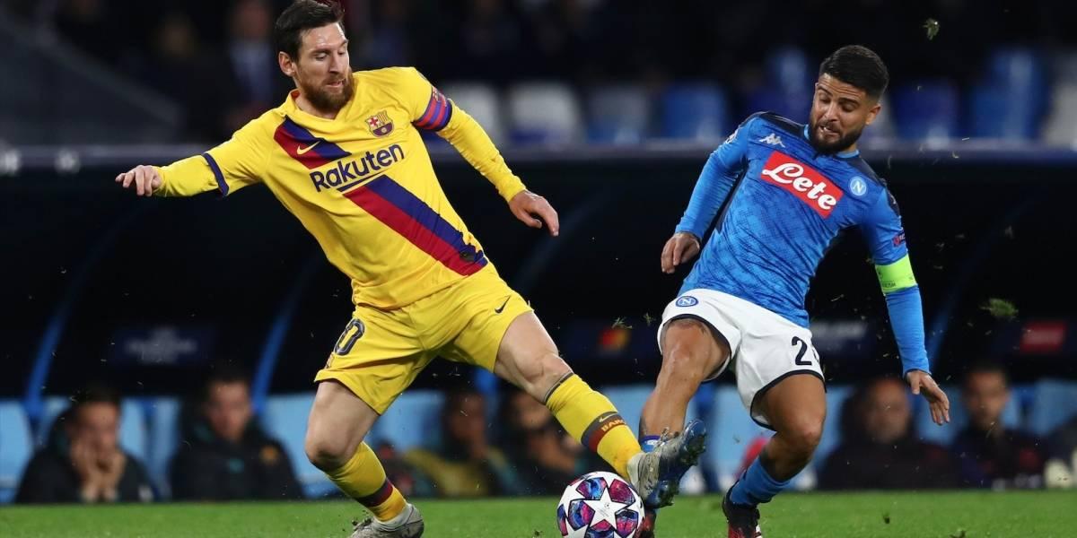 Barcelona y Napoli no se hicieron daño en la ida y todo se definirá en el Camp Nou