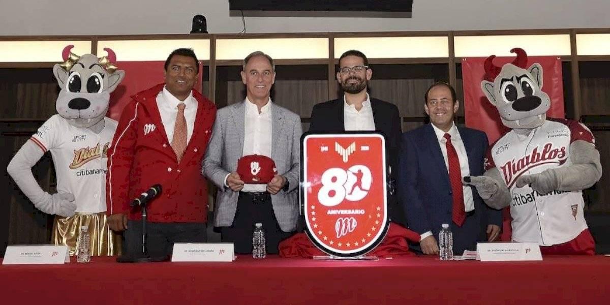 Diablos Rojos presumen nueva imagen por su 80 aniversario