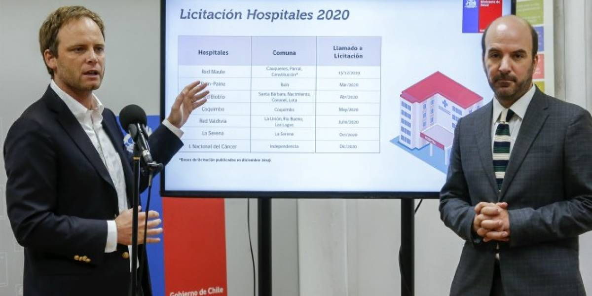 Anuncian llamado a licitación de 11 nuevos hospitales durante el 2020