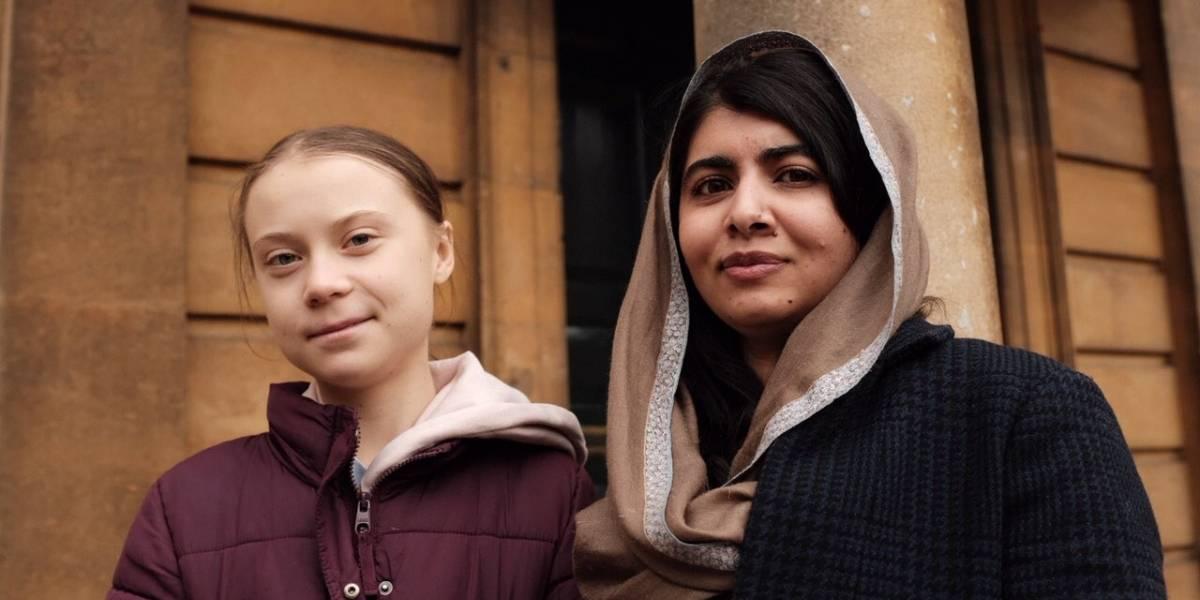 Greta Thunberg se reúne con Malala en la universidad de Oxford