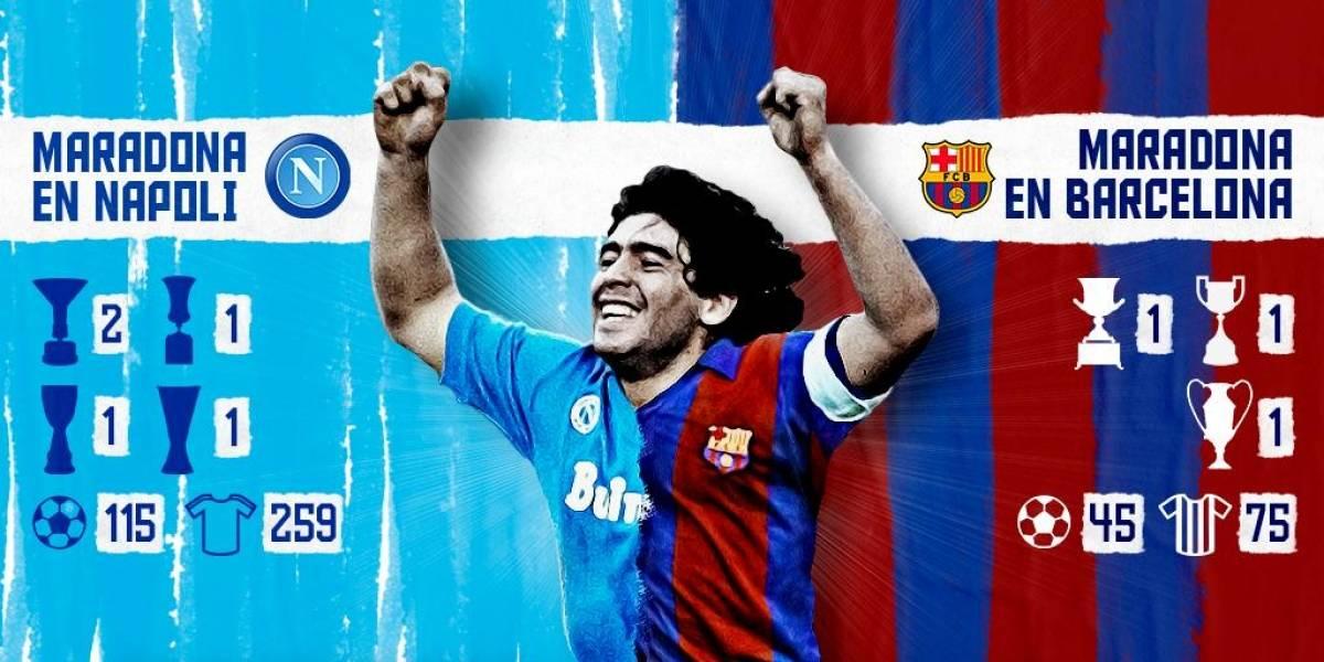 Napoli vs Barcelona: Recordamos los mejores goles de Diego Maradona con ambos equipos