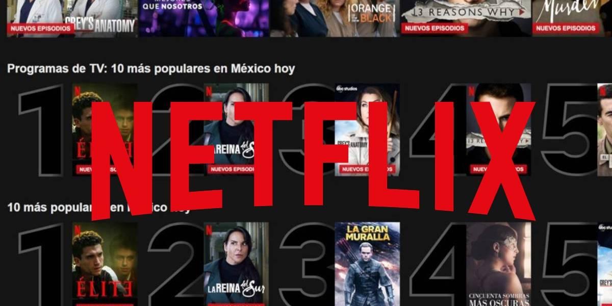Netflix tiene nueva función para que descubras los títulos más populares