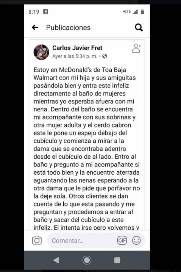 mensaje de Carlos Javier Fret tras incidente con Alexa Torres en