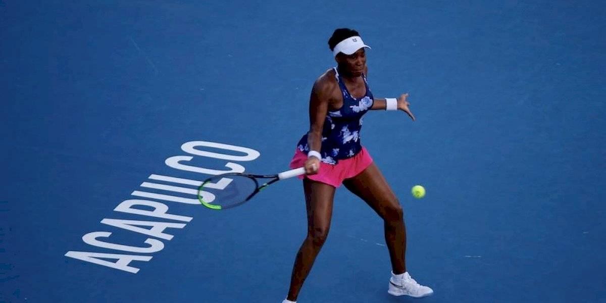 Venus Williams se despide de México con derrota en la primera ronda