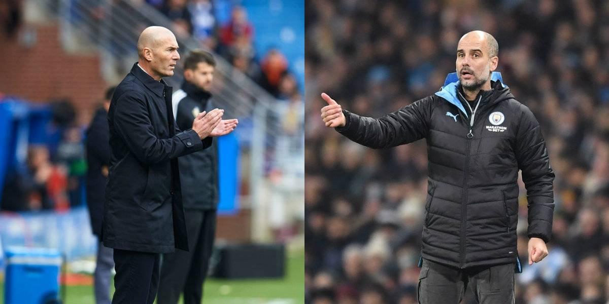 Zidane llama a Guardiola 'el mejor entrenador del mundo'