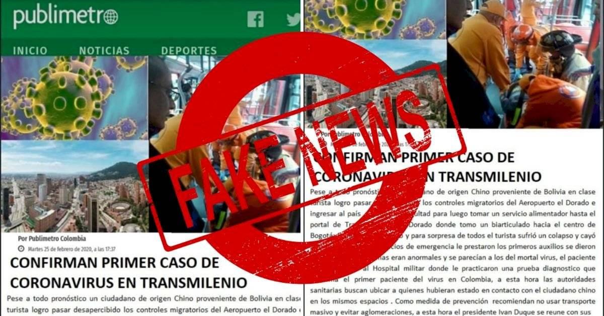 La falsa noticia del coronavirus en TransMilenio