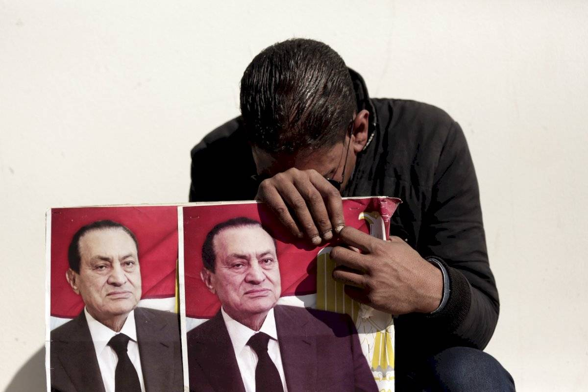 Simpatizantes de Hosni Mubarak en Egipto