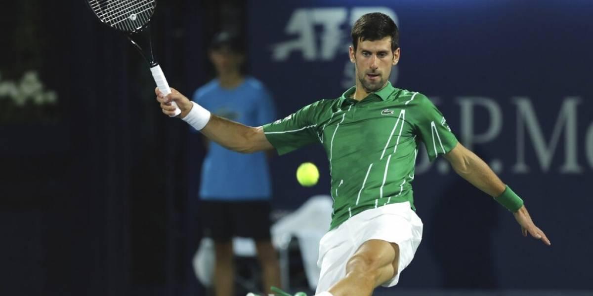 Djokovic avanza a cuartos en Dubai y sigue invicto en 2020