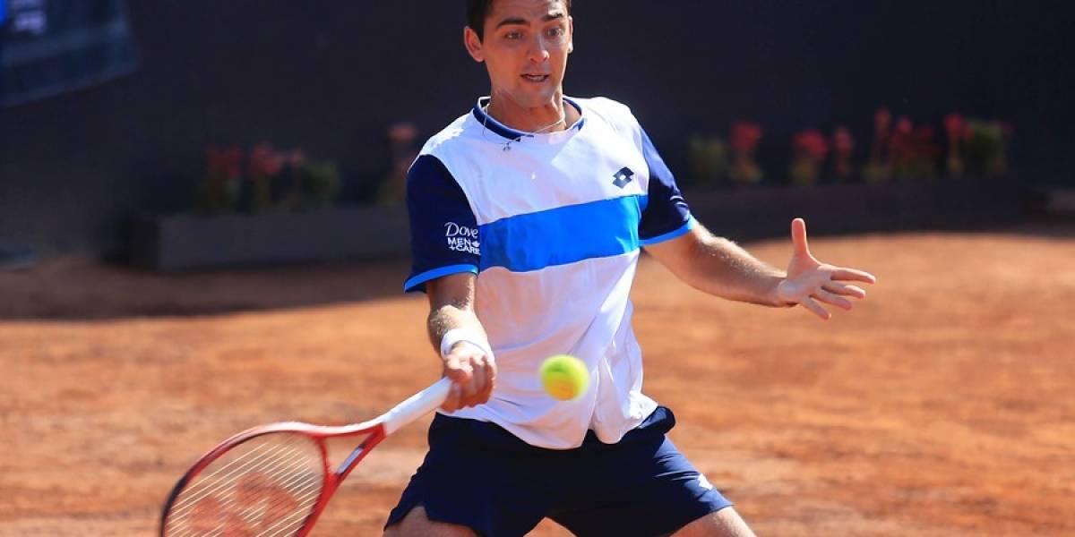 """Tomás """"Warrior"""" Barrios dio batalla, pero no pudo contra el boliviano Dellien en el ATP de Santiago"""