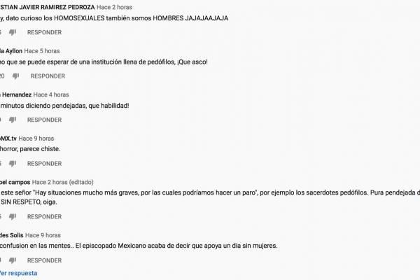 Comentarios en canal el padre Ernesto María Caro