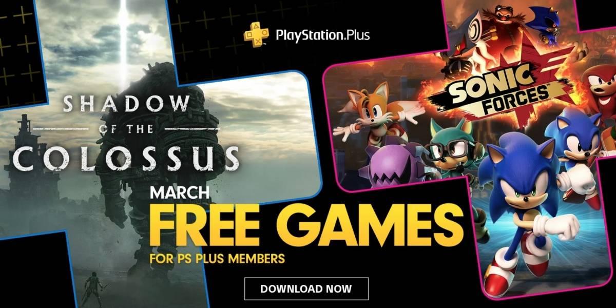 Games 'Shadow of the Colossus' e 'Sonic Forces' estão disponíveis gratuitamente na PlayStation Plus