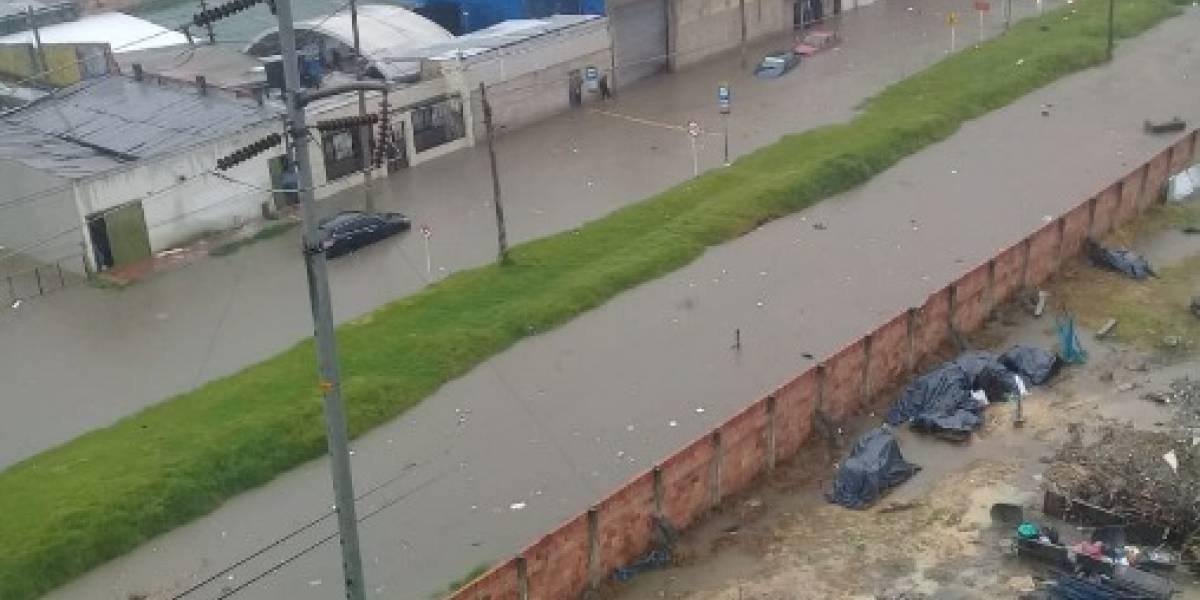 Lluvias sobre Bogotá del martes tuvieron el agua que cae en un mes