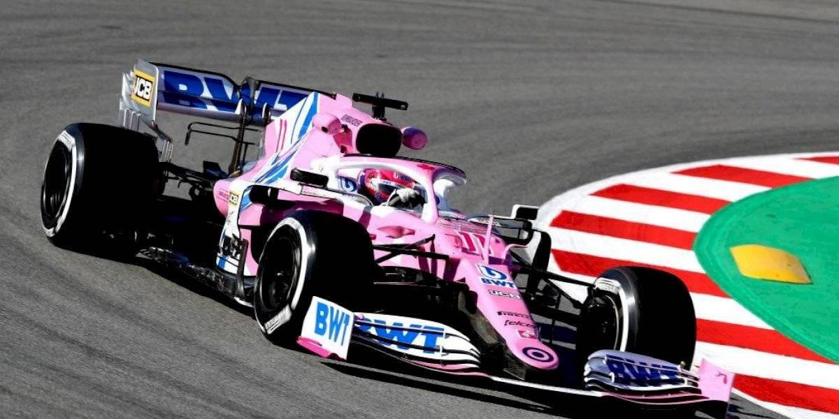 'Checo' Pérez finaliza tercero en ensayos de F1 en Barcelona