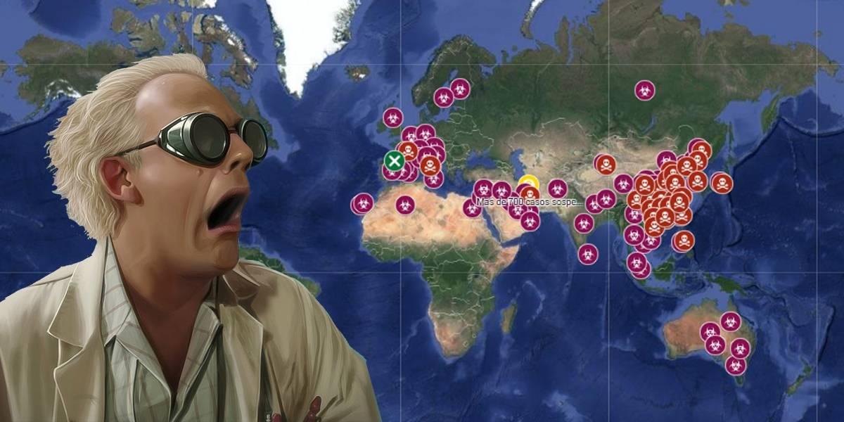 El mapa EN VIVO del avance del coronavirus por el mundo