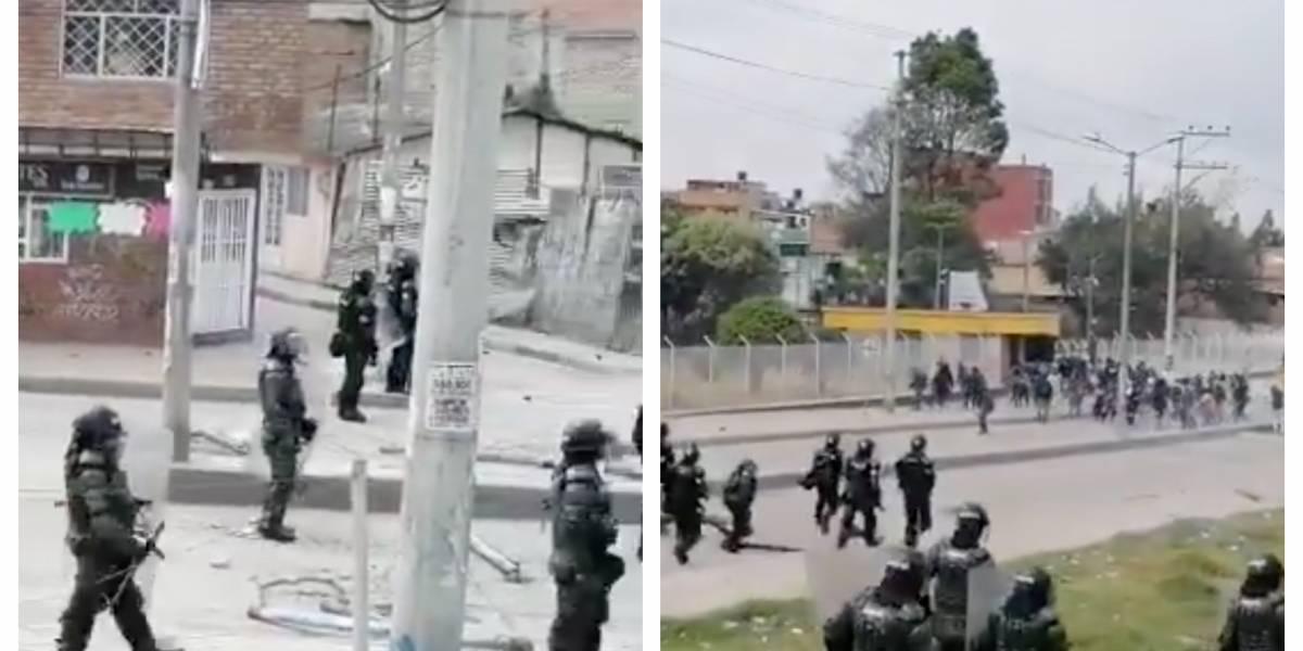 (VIDEO) Enfrentamientos entre Esmad y manifestantes en la universidad de Cundinamarca