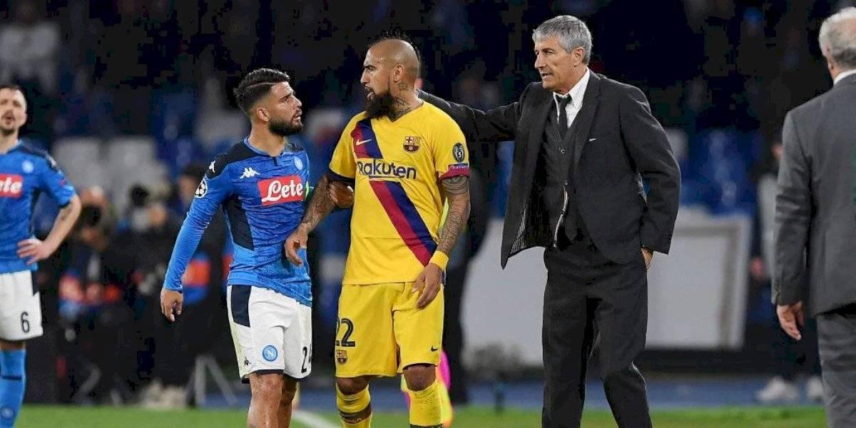 """""""Esto se da en momentos de nervios"""": Vidal recibe apoyo de su jefe tras ser expulsado en la Champions"""