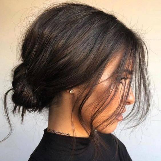 Peinados con cabello recogido