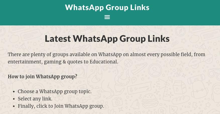 whatsapp los grupos dentro de la aplicacion no son privados