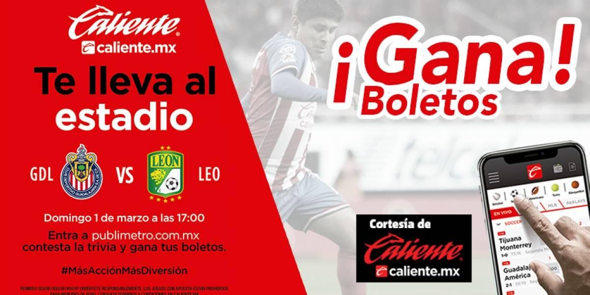 ¡Gana! pase doble para el partido Chivas vs León