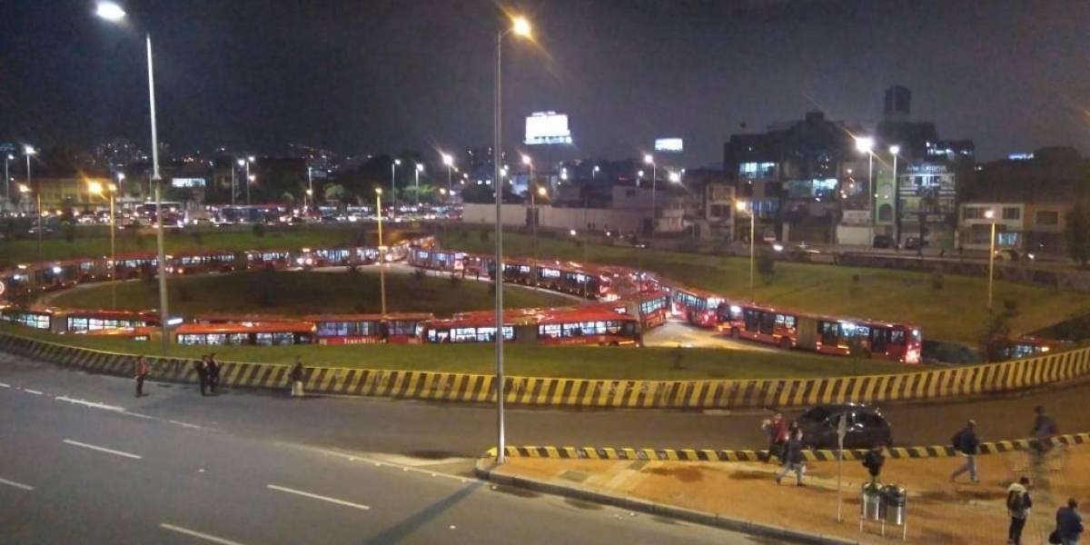 Colapsaron troncales de TransMilenio tras manifestaciones de la U. Distrital