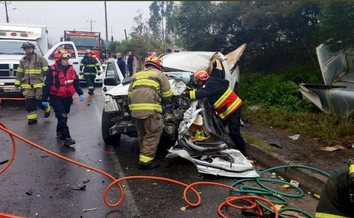 Dos heridos en accidente en Quito