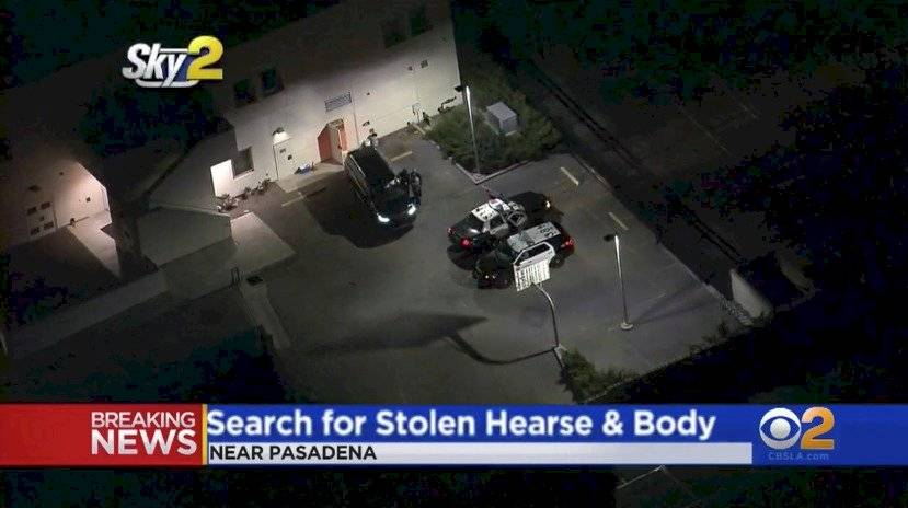 Se robaron un carro fúnebre con el cuerpo de un fallecido adentro