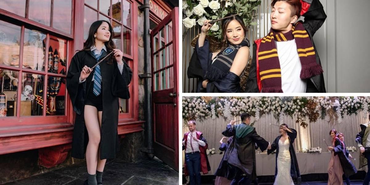 La boda perfecta con temática de Harry Potter que se ha vuelto viral, ¡la amamos!