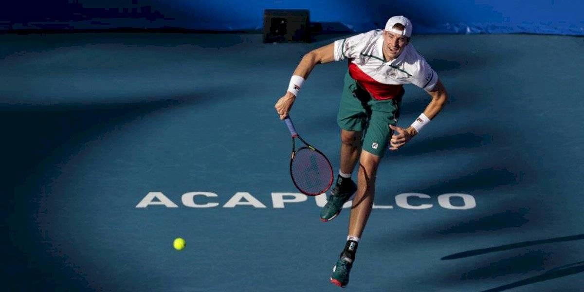 John Isner, primer semifinalista del Abierto Mexicano de Tenis