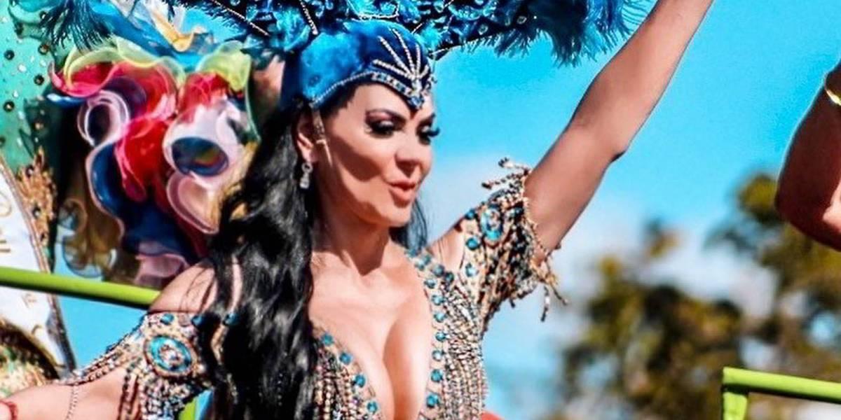 Maribel Guardia deslumbra con un escotado body al mejor estilo de una sexy garota