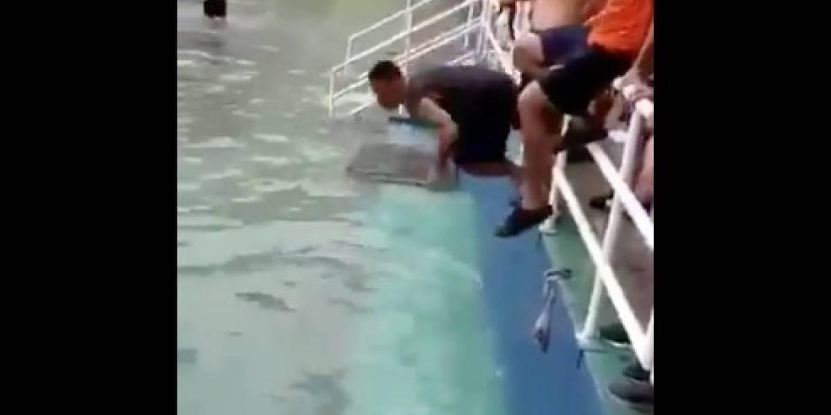 Autoridades reaccionan ante video de reos que hicieron una 'piscina' en la cárcel de Turi