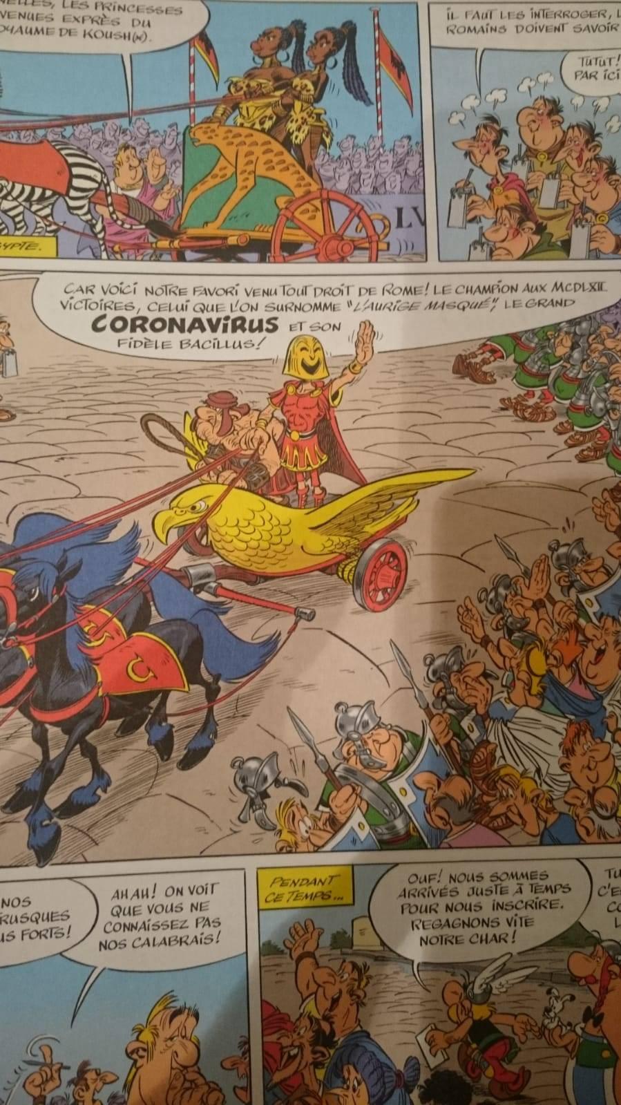 Está vez no fueron Los Simpson: cómic de Astérix y Obélix de 2017 predijo el coronavirus en Italia