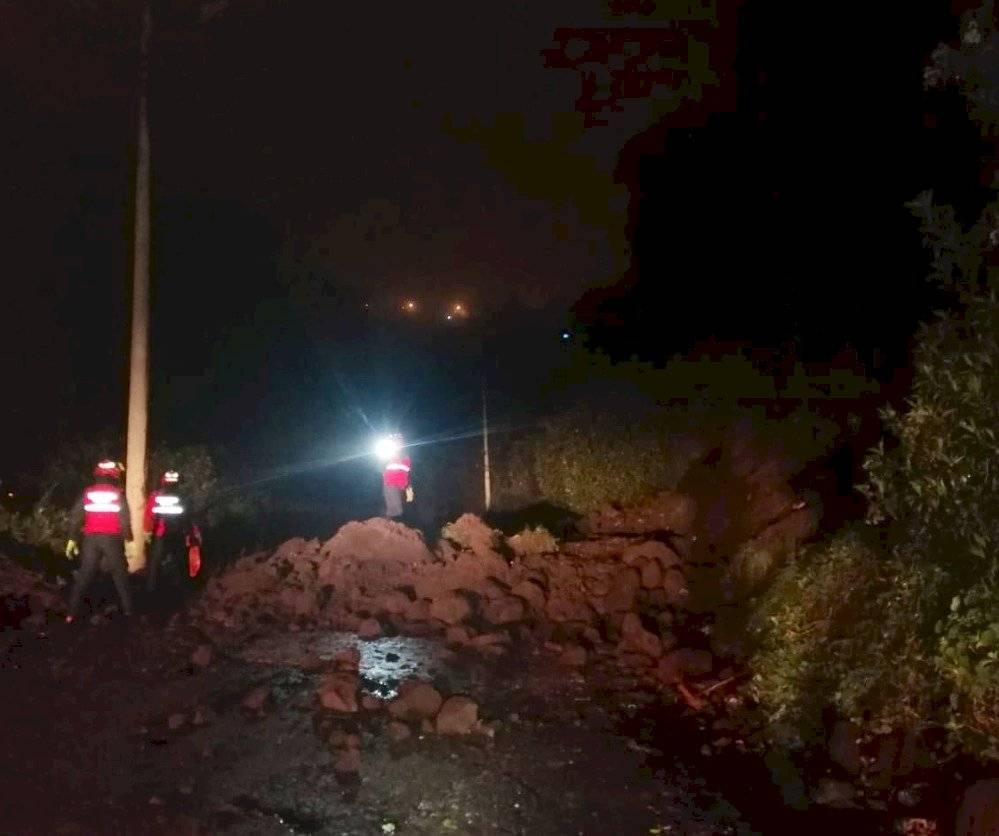 deslizamiento de tierra en Pisulí