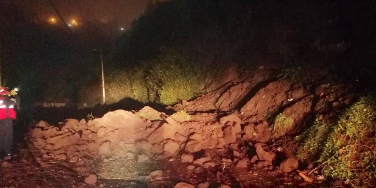 Quito: deslizamiento de tierra en Pisulí (fotos)