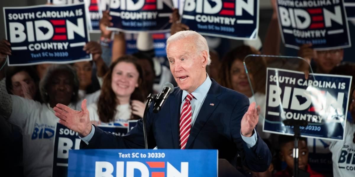 Joe Biden se perfila como favorito en las elecciones primarias de Carolina del Sur
