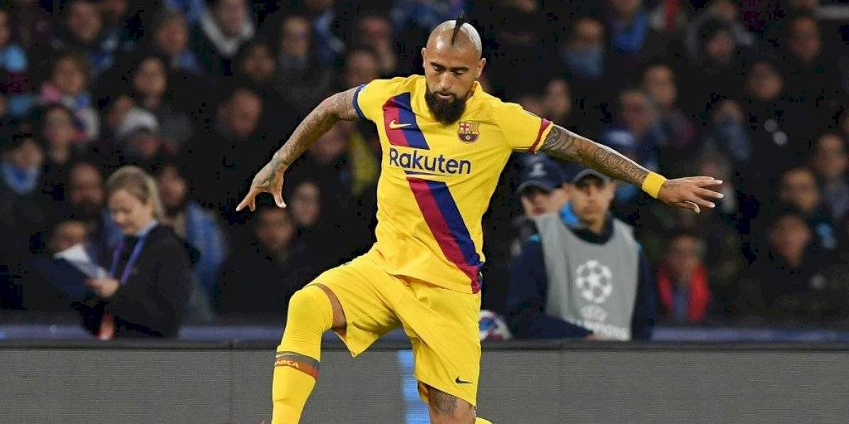 """El """"delantero"""" Arturo Vidal corre con ventaja en Barcelona para el clásico ante el Real Madrid"""