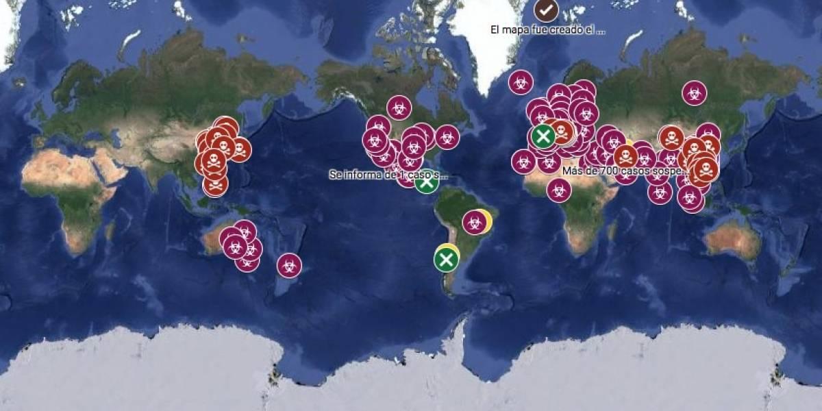 Google Maps: Sigue en tiempo real el avance del coronavirus en el mundo