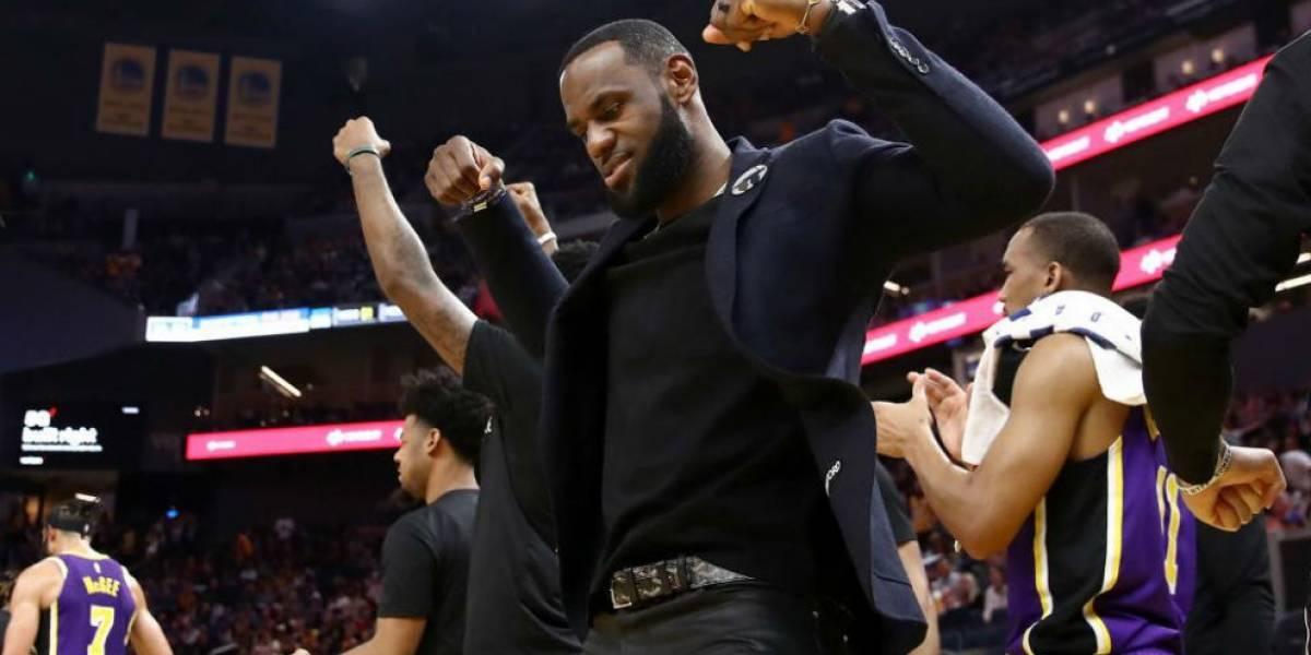 El bailecito de LeBron James que es viral en redes