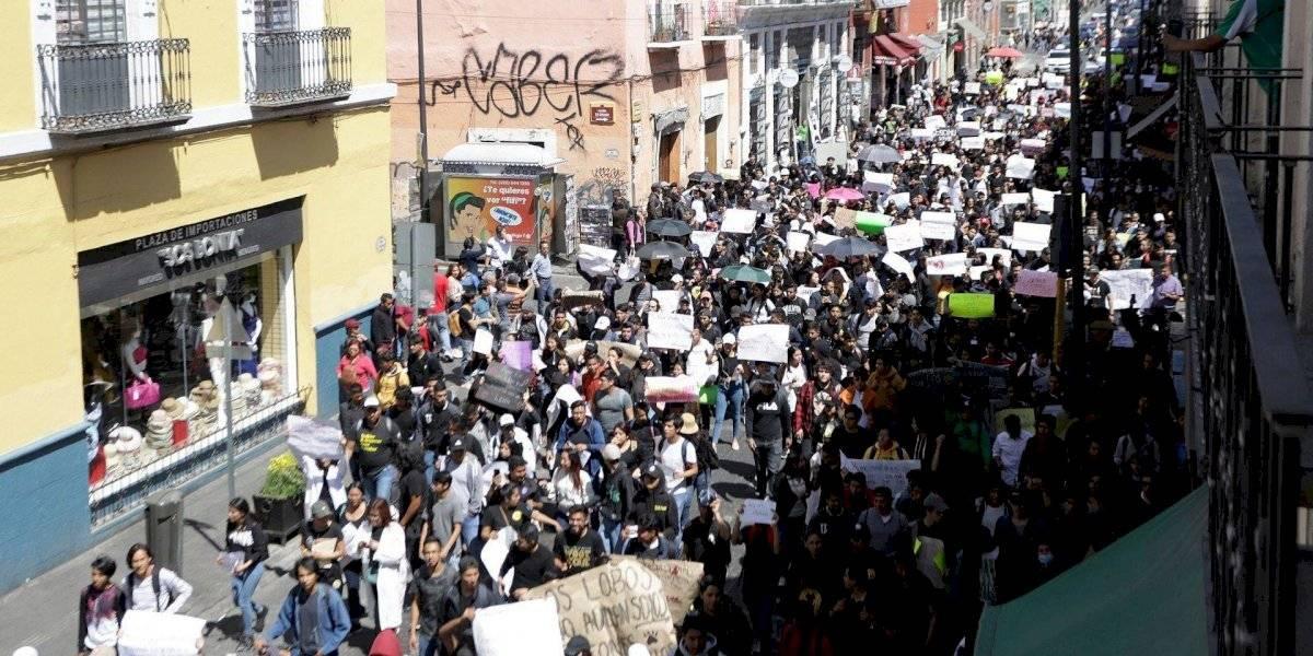 Puebla vive el mayor movimiento estudiantil en casi 60 años, tras asesinato de tres universitarios