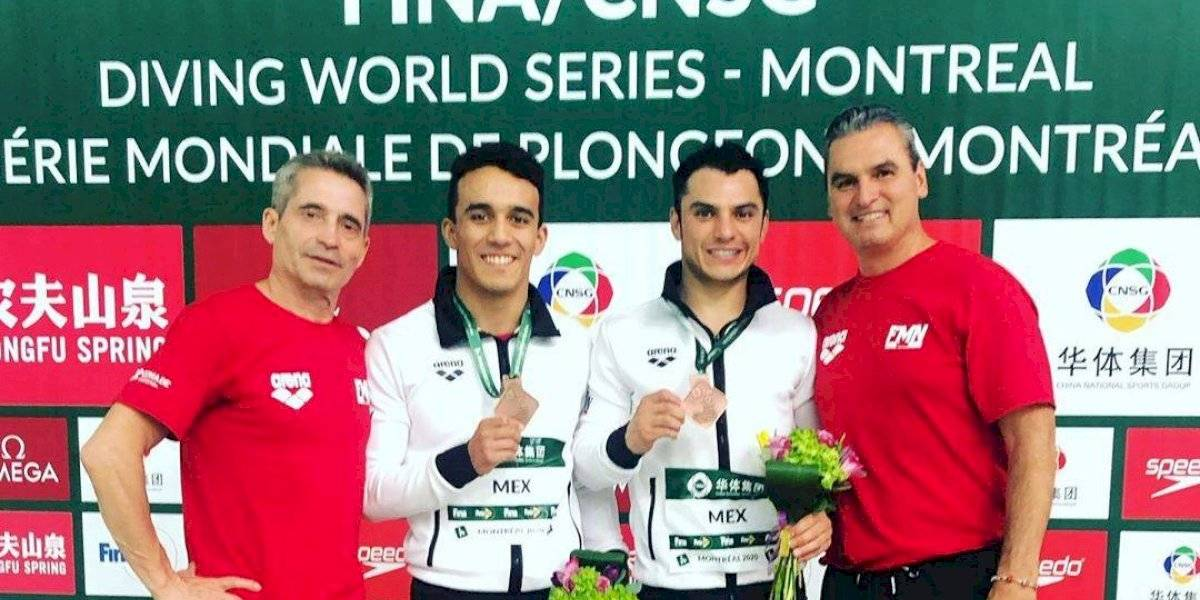 Juan Celaya y Yahel Castillo conquistan el bronce en Serie Mundial de Clavados