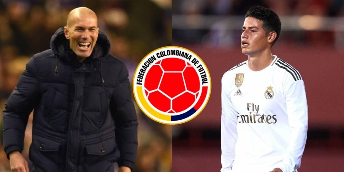 La decisión de Zidane con James antes de Real Madrid VS ...