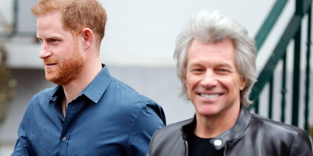 El príncipe Harry y Bon Jovi se encontraron para este proyecto