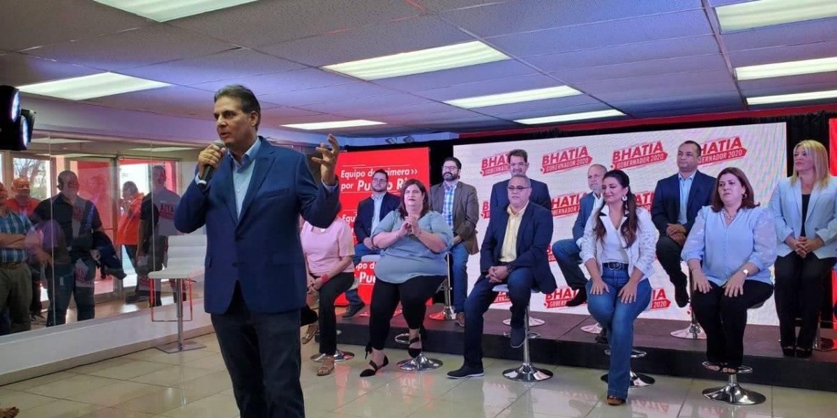 Eduardo Bhatia presenta su equipo de campaña