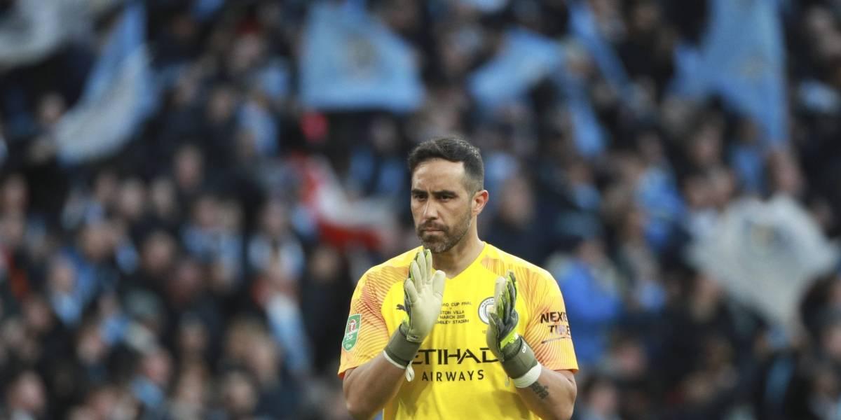 """Claudio """"talismán"""" Bravo ganó todas las finales que jugó con el Manchester City"""
