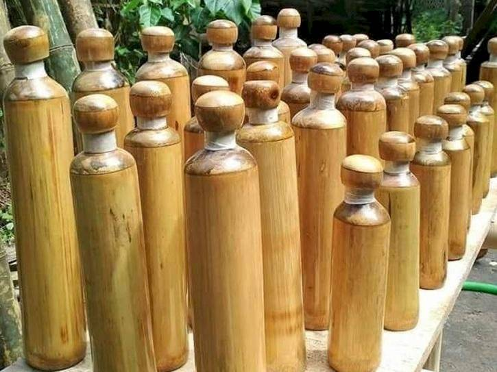 botellas bamboo