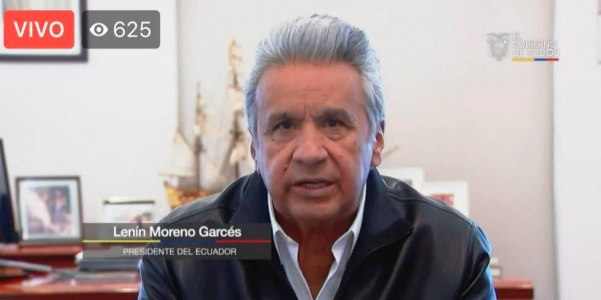 Lenín Moreno sobre coronavirus en Ecuador: Se han recibido más de 4.000 llamadas al 171