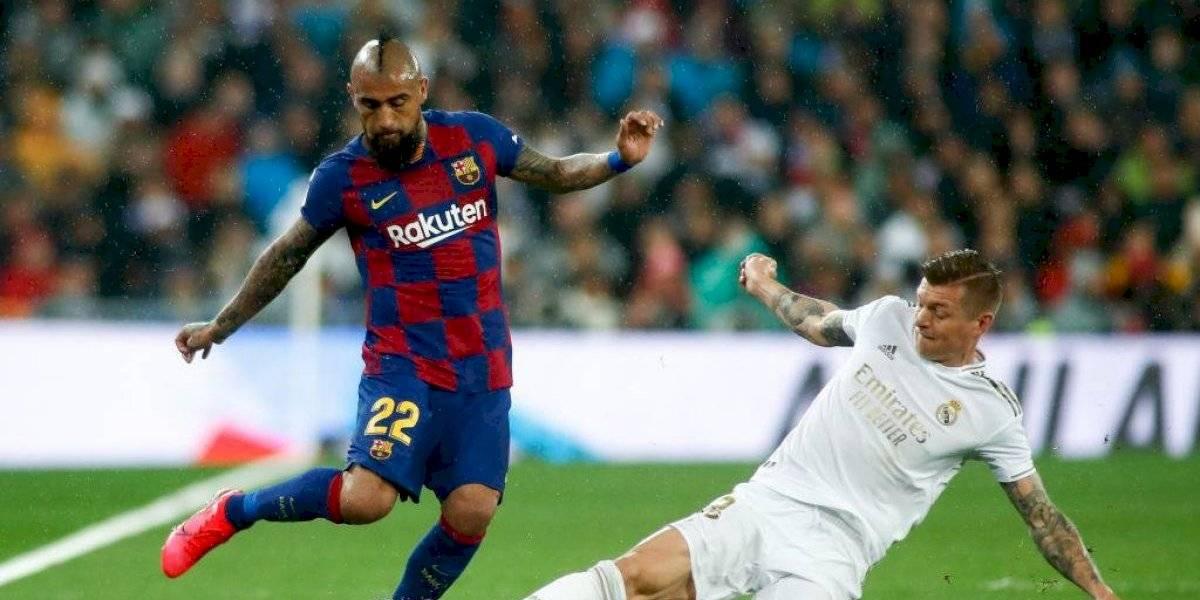 """""""Sufre con el balón"""": La prensa española criticó a Arturo Vidal por su rendimiento en el clásico ante el Real Madrid"""
